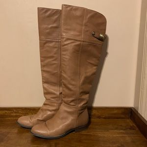 Chinese Laundry Camel Faux Leather Riding Boots